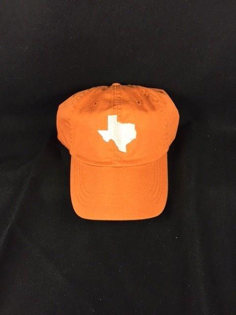 Cap - Orange - Texas Shape