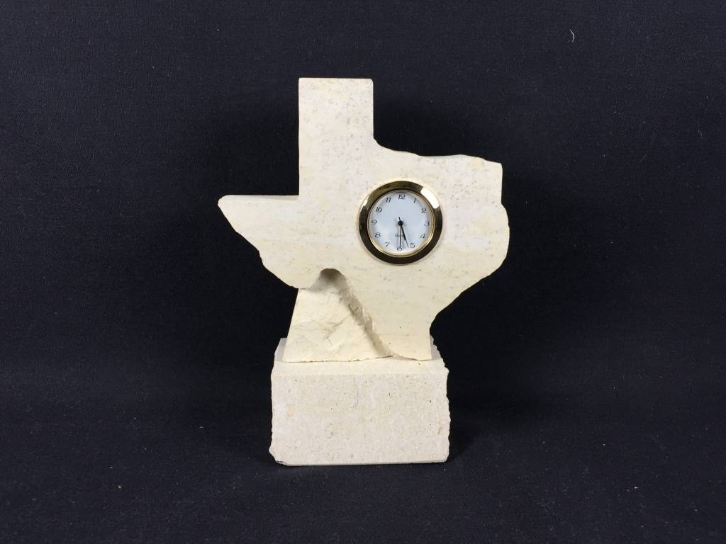 Limestone Clock - 5 in. State on Base