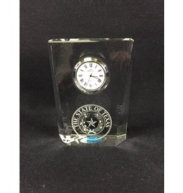Clock - Classic Rectangle - Texas State Seal