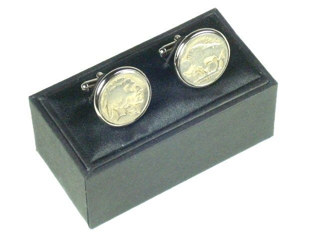 Cuff Links - Buffalo Nickel