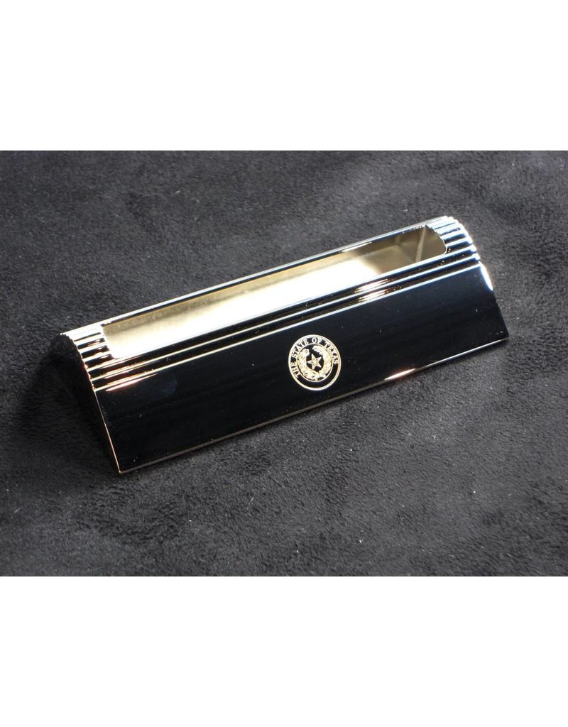 Business Card Holder - Desk - Silver - Texas State Seal