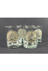 DOF - Round - Set of Four - Pewter Texas Star