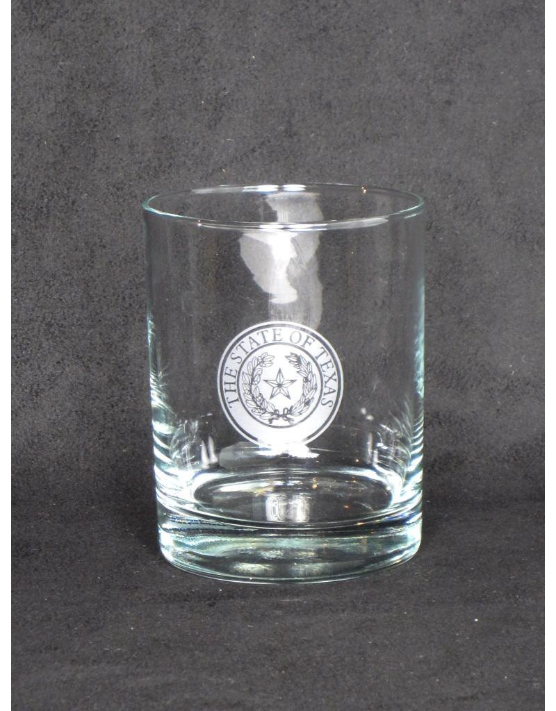 DOF - Round - Single Glass - Texas State Seal