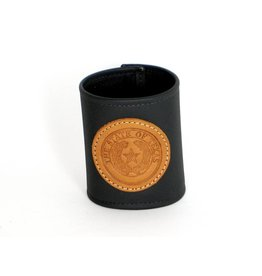 Drink Koozie - Black - Texas State Seal