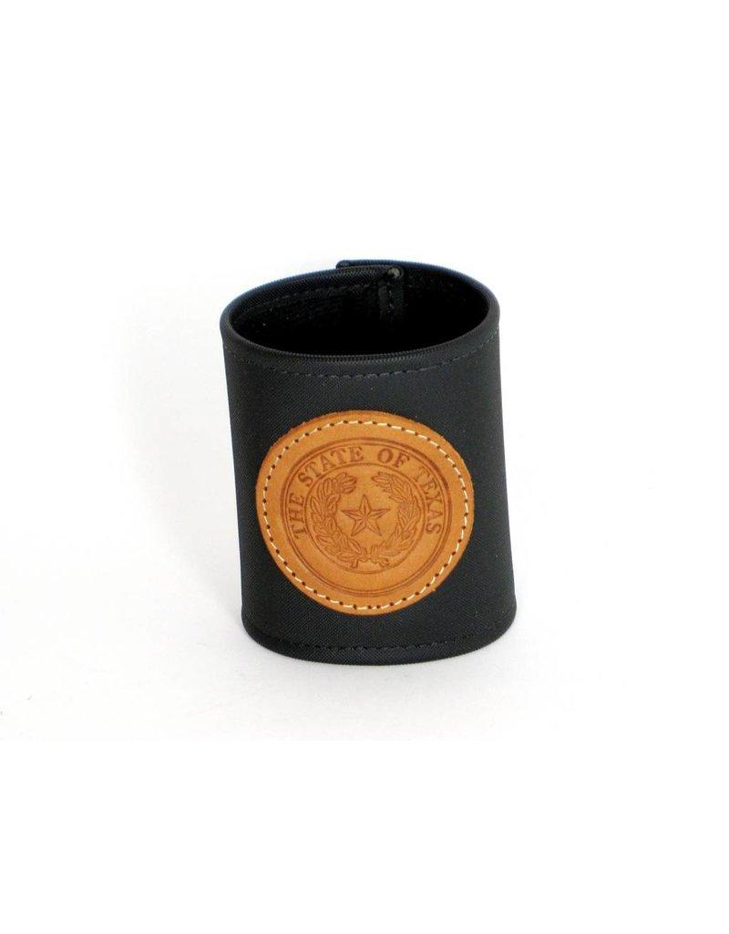 Drink Koozie - Black - Texas State Seal