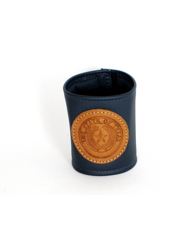 Drink Koozie - Navy - Texas State Seal
