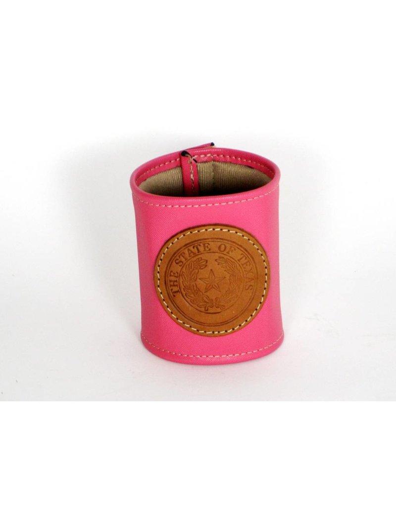 Drink Koozie - Pink - Texas State Seal