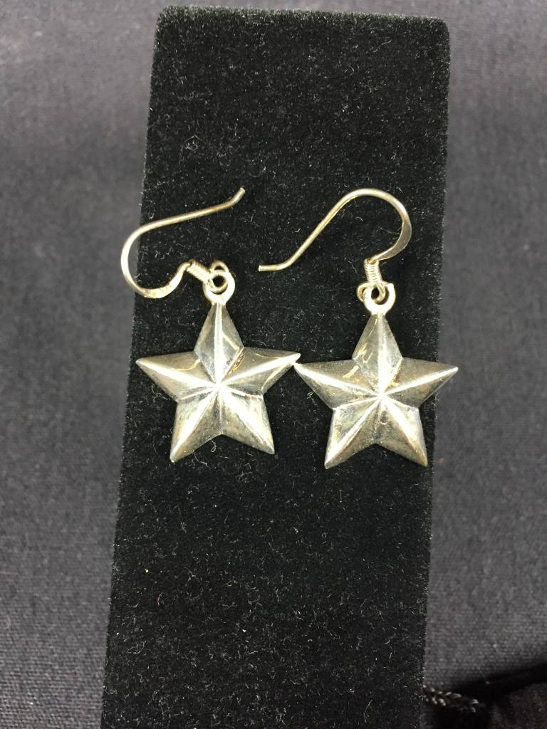 Earrings - 3D Star - Med