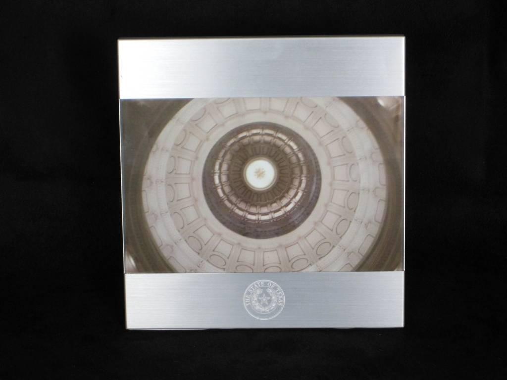 Frame - 4 x 6 Brushed Metal - Texas State Seal