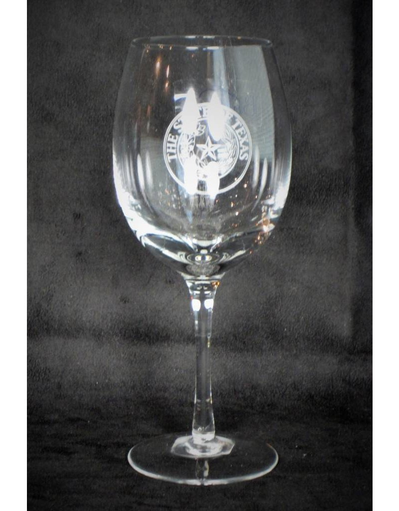 16 oz Wine Goblet - Manhattan  - Texas State Seal