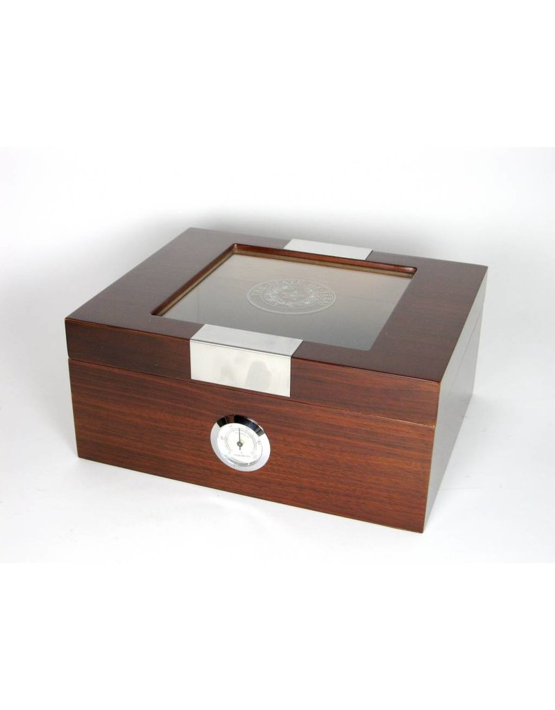 Humidor w/ Glass - 60 Cigars - Texas State Seal