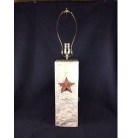 "Lamp - Limestone - Pecos Star - 14"""