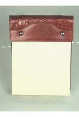 Leather Note Pad - Large - Ferrari Croc - Texas State Seal