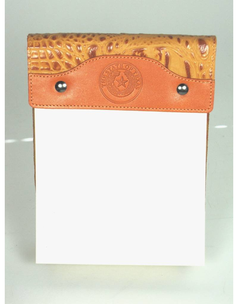 Large Note Pad/Tangelo Croc - SS