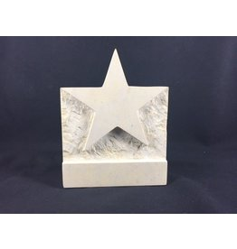 Limestone 1 piece stand up star