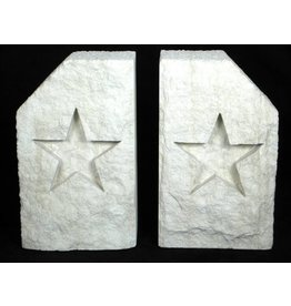 Bookends - Limestone - Star