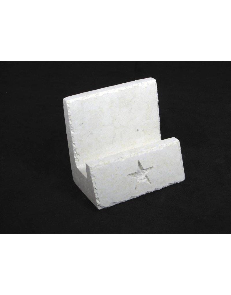 Limestone Star In Card Holder