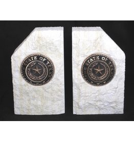 Bookends - Limestone - Texas State Seal