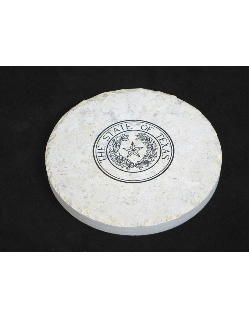 Limestone Wine Coaster - Seal
