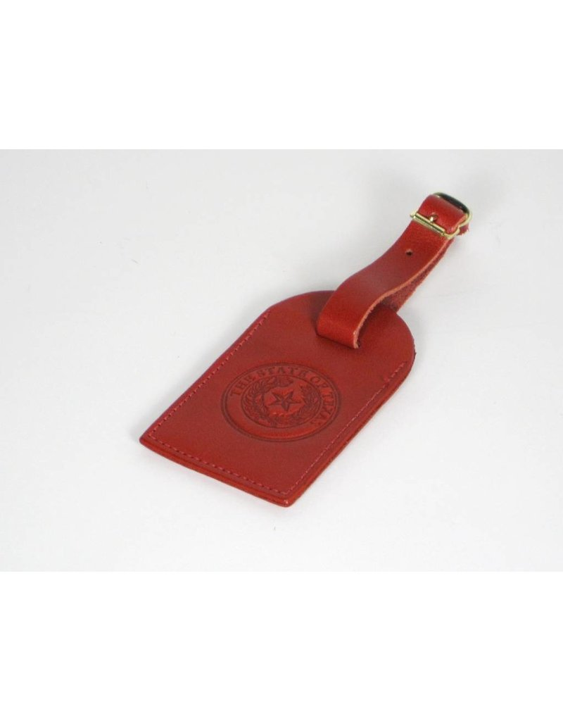 Luggage Tag - Monte Carlo Red - Texas State Seal