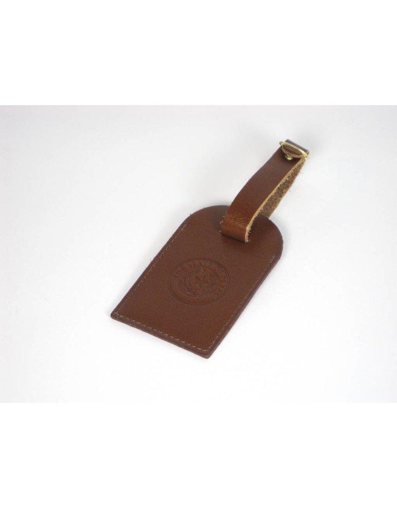 Luggage Tag - Tan Calf - Texas State Seal