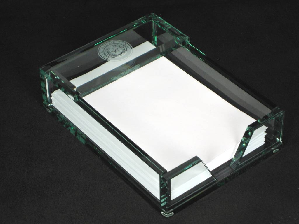 Paper Tray - Jade Glass - Texas State Seal
