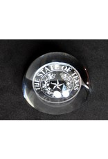 Crystal Paperweight - Magnifier - Texas State Seal