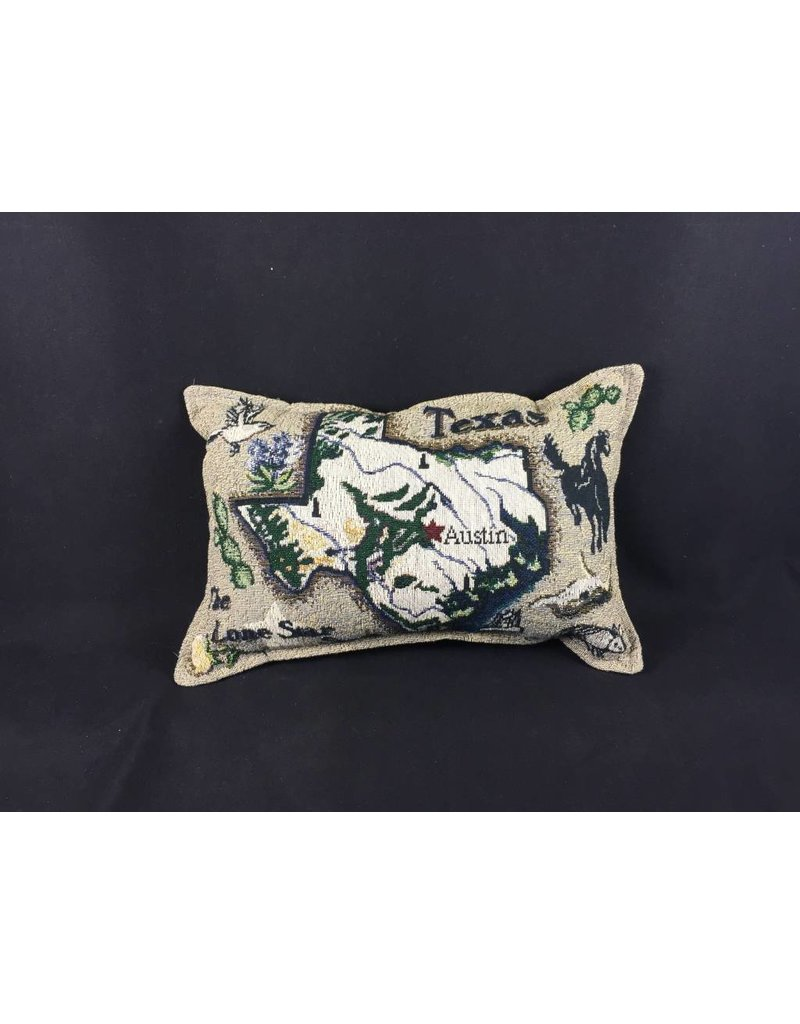 Texas Pillow - Texas Map 9x12""