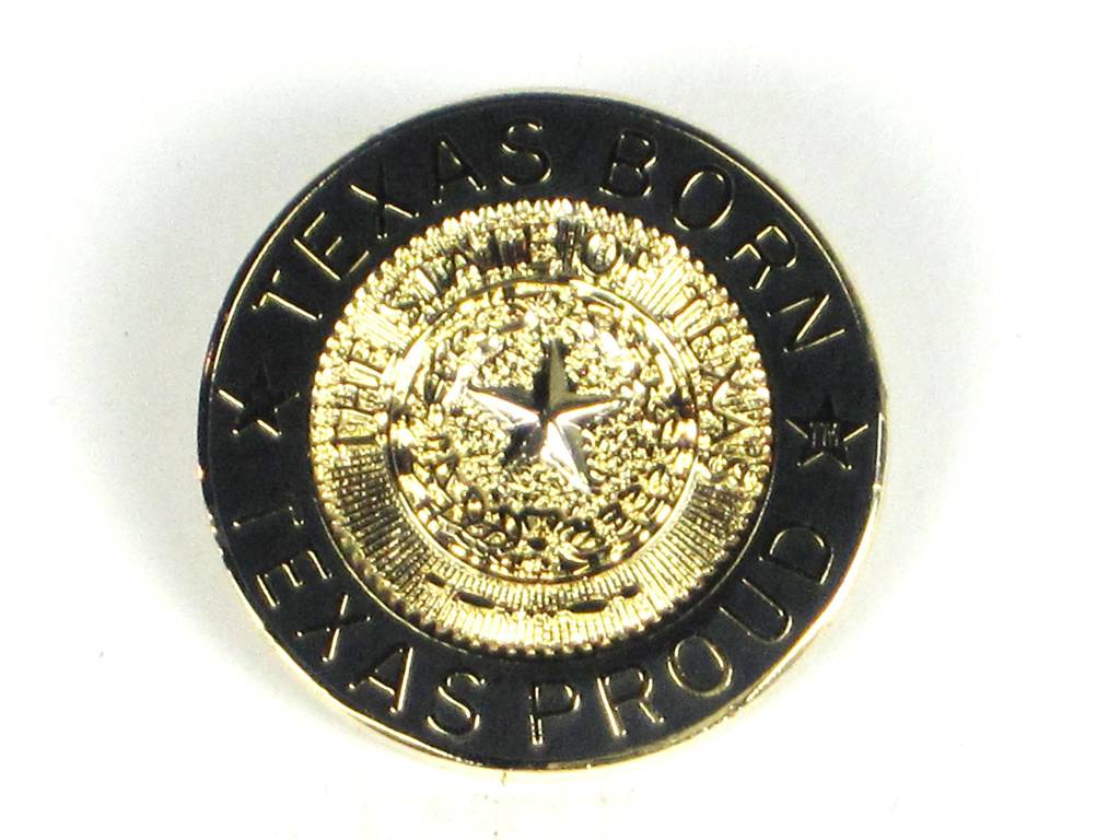 Lapel Pin - Texas Born Gold