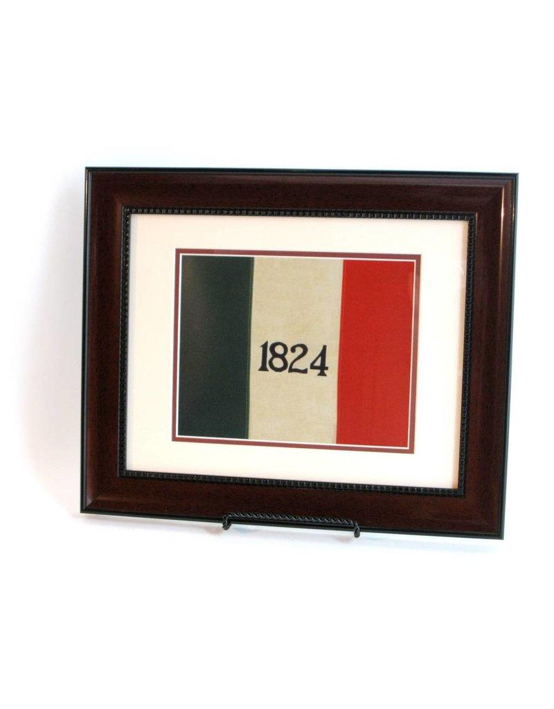 Print - Alamo Flag - Mahogany