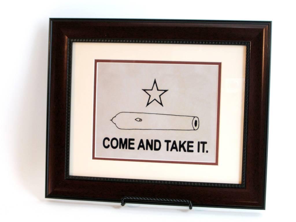Print - Gonzales Flag - Mahogany