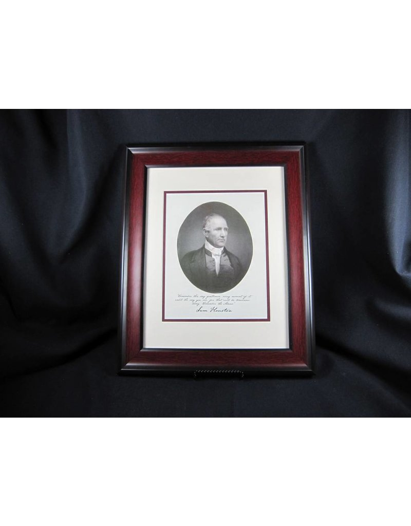 Print - Sam Houston - Mahogany