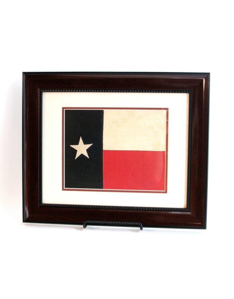 Print - Texas Flag - Mahogany