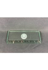 "Ruler - Jade Glass 6"" - Texas State Seal"