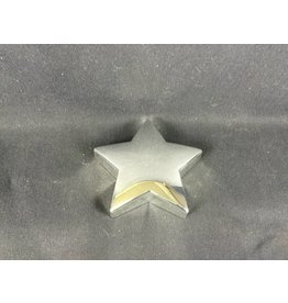 Paperweight - Silver Plate Star - Blank