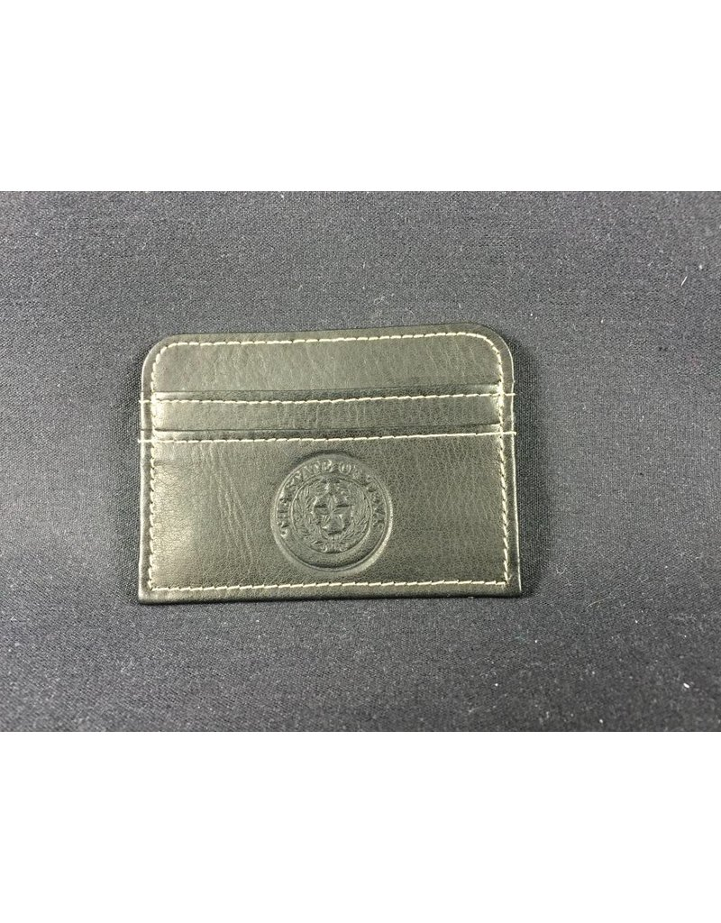 Slim Business Card Case - BLK - Texas State Seal