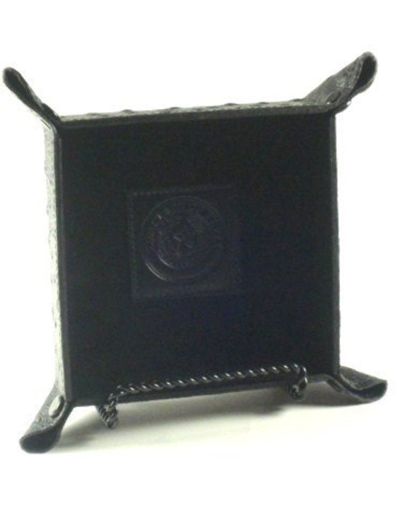 Valet - Snap - Black Ostrich - Texas State Seal