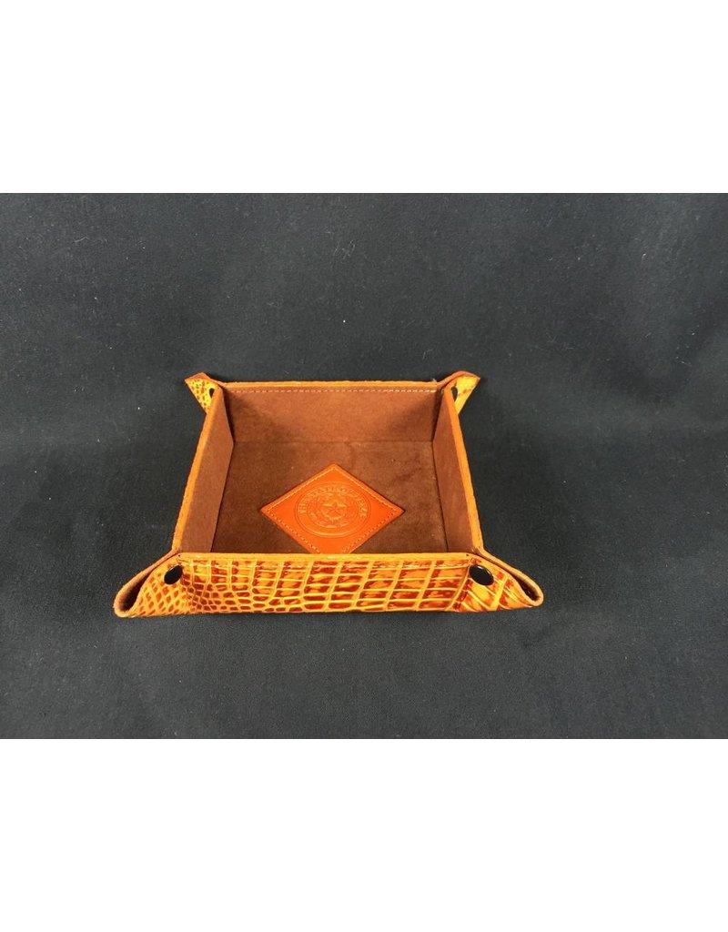Valet - Snap - Tangelo Croc - Texas State Seal
