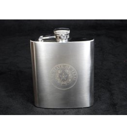 Flask - Stainless - Texas State Seal