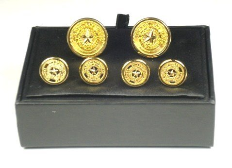 Tuxedo Set - Texas State Seal - Gold finish