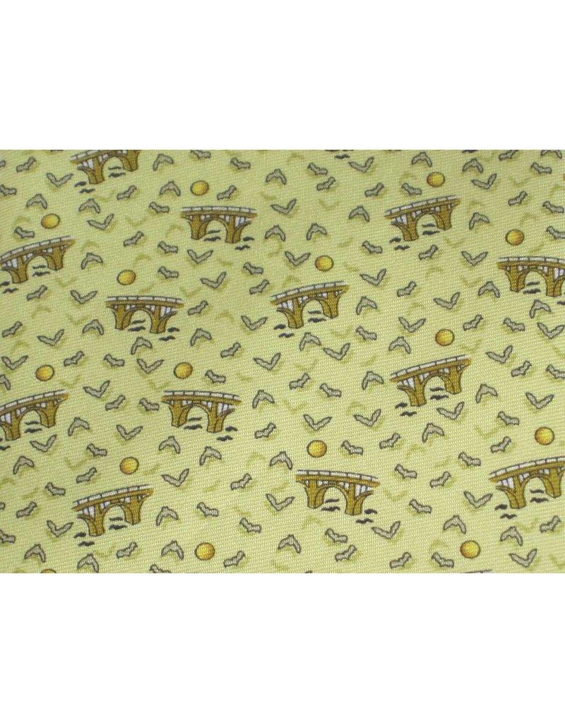 Tie - Bats Yellow