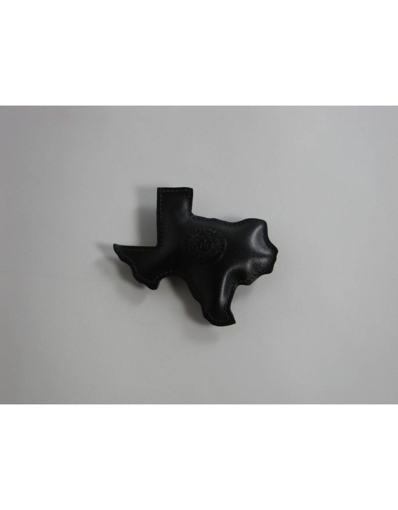 Paperweight - Texas - Black Calf - Texas State Seal