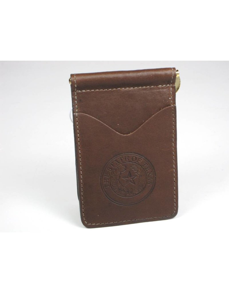 Wallet - Boomer - Texas State Seal (spring clip)