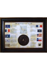 Texas Art - Flag Collage w/Texas State Seal