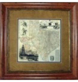 Texas Art - Antique Map of Texas