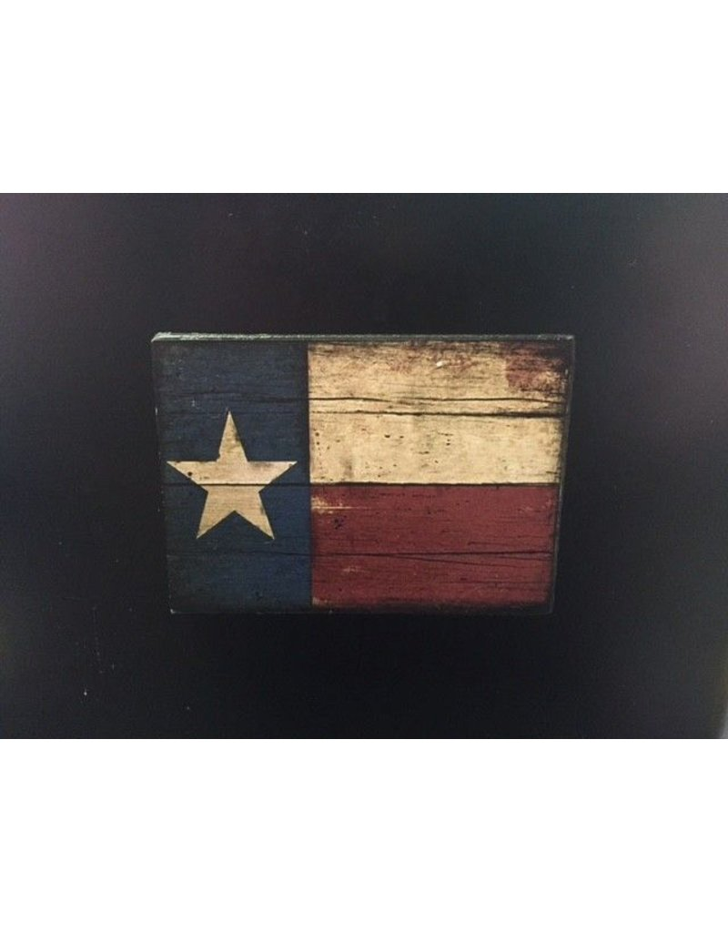 Magnet - Texas Flag - Wood