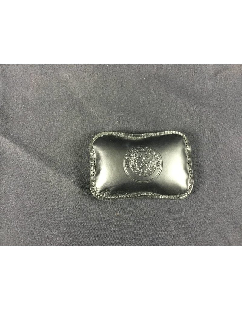 Paperweight - Black Calf - Rectangle - Texas State Seal