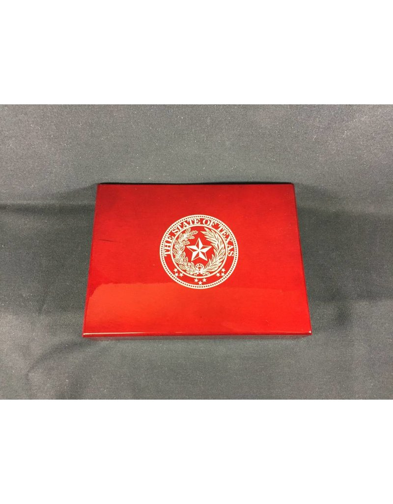 Humidor - Small Rosewood - Texas State Seal