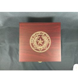 Wine Box w/tools and glasses - Texas State Seal