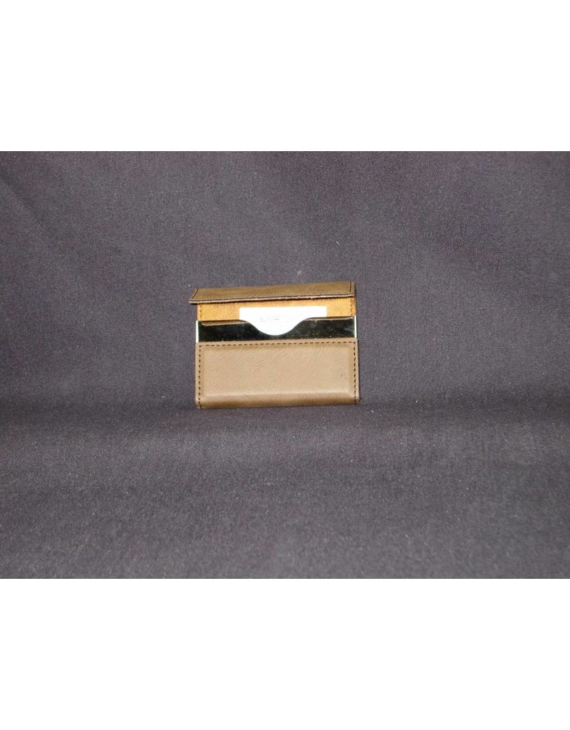 Business Card Holder / Dark / Hard Leather